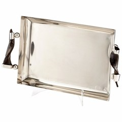 Buy Cyan Design Arezzo Contemporary Tray in Stainless Steel on sale online