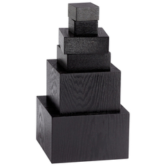 Buy Cyan Design Art Pedestals (Set of 6) in Black Veneer on sale online