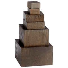 Buy Cyan Design Art Pedestals (Set of 6) in Brown on sale online