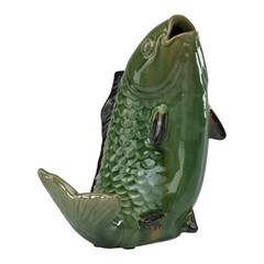 Buy Cyan Design Ascending Koi Fish Sculpture in Jade and Brown on sale online
