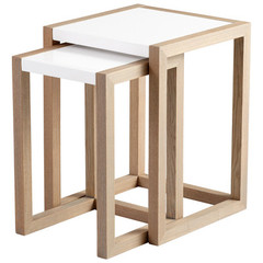 Buy Cyan Design Becket 18 Inch Square Nesting Tables (Set of 2) on sale online