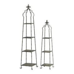 Buy Blanca Storage Stands in Distressed Antique White (Set of 2) on sale online