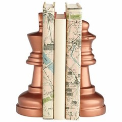 Buy Cyan Design Checkmate Bookends in Antique Copper (Set of 2) on sale online