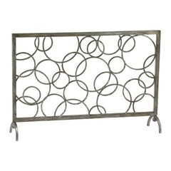 Buy Cyan Design Circle Fire Screen in Silver on sale online