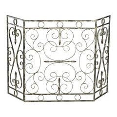 Buy Cyan Design Crawford Fire Screen in Distressed White on sale online