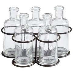 Buy Cyan Design Dorset Bottles in Raw Steel (Set of 5) on sale online