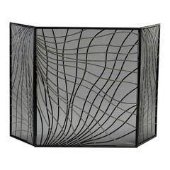Buy Cyan Design Finley Fire Screen in Silver and Black on sale online