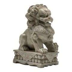 Buy Cyan Design Foo Dog Statue Sculpture in Off-White on sale online