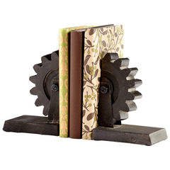 Buy Cyan Design Gear Bookends (Set of 2) on sale online