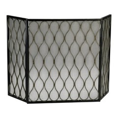 Buy Cyan Design Gold Mesh Fireplace Screen on sale online
