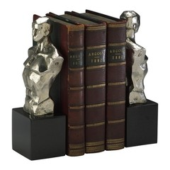 Buy Cyan Design Hercules Bookends in Chrome (Set of 2) on sale online