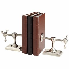 Buy Cyan Design Hot & Cold Industrial Bookends in Nickel (Set of 2) on sale online