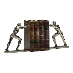 Buy Cyan Design Iron Man Bookends in Silver (Set of 2) on sale online
