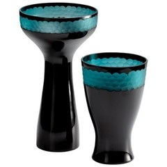Buy Cyan Design Jordan Vase in Black on sale online