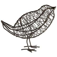 Buy Cyan Design Large Bird On a Wire Sculpture in Graphite on sale online