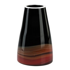 Buy Cyan Design Large Black and Deep Red Swirl Vase on sale online