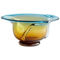 Buy Large Bowl in Cyan Blue and Orange on sale online