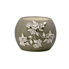 Buy Cyan Design Large Lily Planter in Smoked Grey and Frosted White on sale online