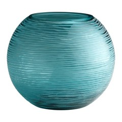 Buy Cyan Design Large Round Libra Vase in Aqua on sale online