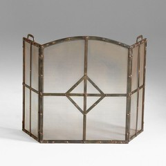 Buy Cyan Design Lincoln Fire Screen in Raw Steel on sale online