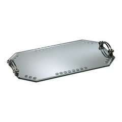 Buy Cyan Design Mirrored Glass Tray in Silver on sale online