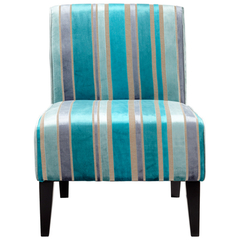 Buy Cyan Design Ms. Stripy Blu Accent Chair on sale online