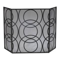 Buy Cyan Design Orb Fire Screen in Black on sale online