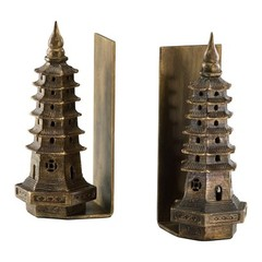 Buy Cyan Design Pagoda Bookends in Gold Leaf (Set of 2) on sale online