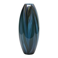 Buy Cyan Design Peacock Feather Vase in Multi Colored Blue on sale online