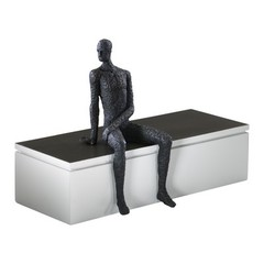 Buy Cyan Design Posing Man Shelf Decor Sculpture in Old World on sale online