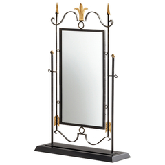 Buy Cyan Design Shetland 40.25x26 Mirror on Stand in Black and Gold on sale online