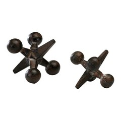 Buy Cyan Design Small Antiqued Rust Jack Sculpture in Antiqued Rust on sale online