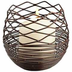Buy Cyan Design Small Coiled Silk Transitional Candleholder in Antique Copper on sale online