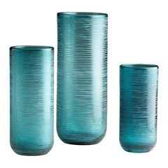 Buy Cyan Design Small Libra Vase in Aqua on sale online