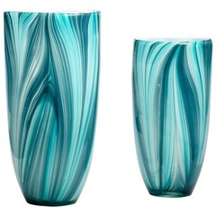 Buy Cyan Design Small Turin Vase in Turquoise Blue on sale online