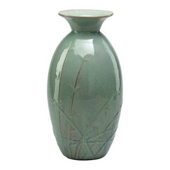 Buy Cyan Design Small Vivian Vase in Alice Blue Glaze on sale online