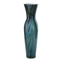 Buy Cyan Design Tall Peacock Feather Vase in Multi Colored Blue on sale online