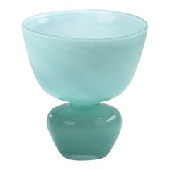 Buy Cyan Design Bowl Vase in Turquoise on sale online