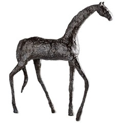 Buy Cyan Design Walking Horse Sculpture in Bronze on sale online