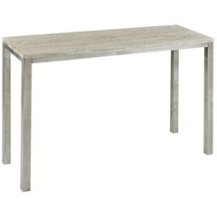 Buy Cooper Classics Dade Console Table in Silver Metal on sale online