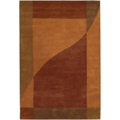 Buy Chandra Rugs Daisa Hand-Tufted Contemporary Orange Rug - DAI5 on sale online