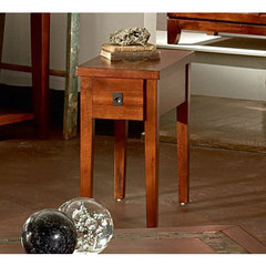 Buy Steve Silver Davenport 24x13 Chairside End Table in Dark Cherry on sale online