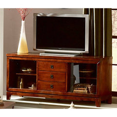 Buy Steve Silver Davenport 61 Inch TV Stand in Dark Cherry on sale online
