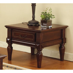 Buy Steve Silver Davina 28x26 End Table in Rich Cherry on sale online