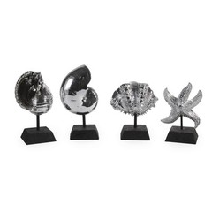 Buy IMAX Worldwide Decorative Silver Shells (Set of 4) on sale online