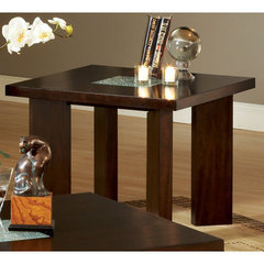 Buy Steve Silver Delano 28 Inch Square End Table in Rich Espresso on sale online