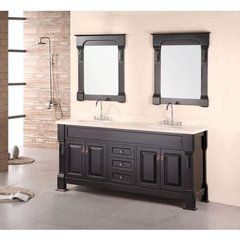 Buy Design Element Andover 72 Inch Cherry Oak Double Sink Bathroom Vanity Set on sale online