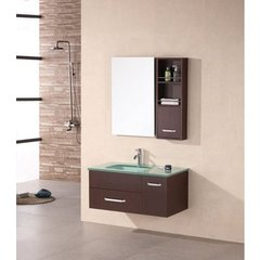 Buy Design Element Christine 35 Inch Espresso Single Modern Bathroom Vanity Set on sale online
