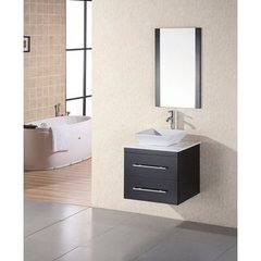 Buy Design Element Elton 24 Inch Single Sink Vanity Set w/ White Stone Countertop on sale online
