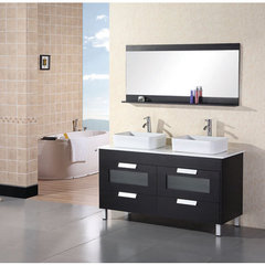 Buy Design Element Francesca 55 Inch Double Sink Bathroom Vanity Set on sale online